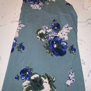 Free People Tops - Free People Blue Floral Tunic